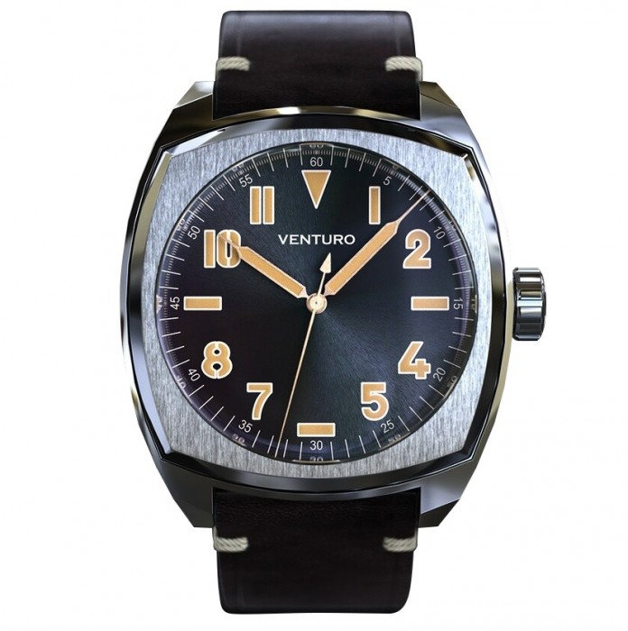 Venturo - Field Watch #2, Black Sunburst